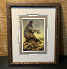Native American Artwork of Boy Shooting a Spirit Bear Nicely Framed