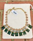 JCrew MIXED GEM STATEMENT NECKLACE Nwt New138 MULTI COLOR With JCrew Bag