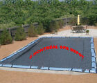 In ground pool WINTER COVER DELUXE rectangle 24 x 44 with tube holding straps