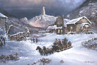 Ted Blaylock Nuggetville 1900 Winter Giclee on Canvas 21.5x15