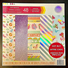 STAY MAGICAL 12X12 SCRAPBOOKING CARDSTOCK PAPER PAD 48 LOT 24 DESIGNS FOIL