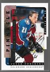 96 97 Be A Player Link 2 History Die Cut Auto Peter Forsberg LTH-2B Avalanche