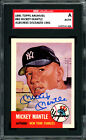 Mickey Mantle Autographed 1991 Topps Archives 1953 Card Yankees SGC AU819635