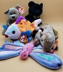 1999 Ty Beanie Babies Baby Chipper, Flitter, Lips, 1999 Signature Bear, The End