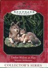 1998 Hallmark Keepsake Ornament - Timber Wolves at Play - Majestic Wilderness