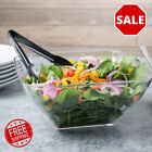 425 Qt Clear Large Square Acrylic Bowl Serving Salad Snacks Party Resto Bar