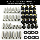 For Ducati ST2 ST3 ST4 1997-2007 Complete Fairing Bolts Kit Nut Fasteners Screws