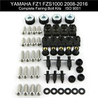 Complete Fairing Bolts Screws Kit Nuts For Yamaha FZ1 FZS1000 Fazer 2008-2016
