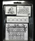 Stampin Up foam Mounted Stamp Set Friends are like Quilts Vintage Retired