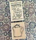 House Mouse Warm Cup Wood Mount Rubber Stamp + Shared Coffee Phrase Stampendous