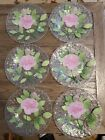 Sydenstricker Fused Art Glass 6 PINK ROSE Ruffled Rim Plates 85 SWEET