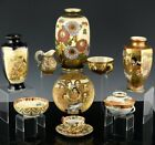 ESTATE LOT ANTIQUE JAPANESE MEIJI SATSUMA KUTANI VASES CUP BOWL JUG DISHES