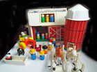 Vintage Fisher Price Little People Play Family Farm 915 Silo Moo Barn Animals