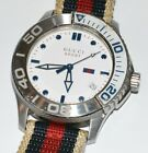 Men's Gucci Sport Large 45mm Diver Stainless Steel Wrist Watch! Model 126.2!