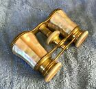 LeMaire Paris Antique Mother Of Pearl Opera Glasses brass