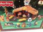 FISHER PRICE LITTLE PEOPLE DELUXE LIGHTS  MUSIC CHRISTMAS STORY NATIVITY SCENE