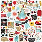 1 12x12 Sheet of Echo Park Paper REMEMBER THE MAGIC Scrapbook Element Stickers