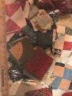 Big Lot Of Vintage Quilt Squares And Scrap Fabric Gingham Feedsack All Cotton