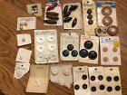 Big Lot Of New Vintage Buttons Made in Italy USA Japan Wood MOP Metal Plastic