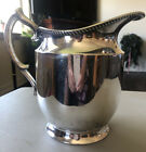 Poole Silver Co EPNS Large Silverplate Pitcher Taunton Mass 85 x 85 x 5