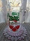 VINTAGE ANCHOR HOCKING STRAWBERRIES GLASS ICE LIP