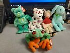 TY Beanie Baby - WATTLIE, PANAMA, GLORY, HIPPITY AND RUGGED RUSTY all used.