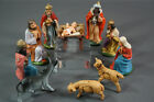 German Christmas Sculpture Nativity King Moor Mary Figures Celluloid Jesus Child