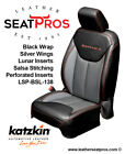 Katzkin Leather Seat Covers 2013-18 Jeep Wrangler Jk 2 4 Door Sahara Black Salsa