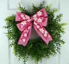 Handcrafted Pink Daisy and Polka Dots Easter Basket Bow Lantern Bow Wreath Bow