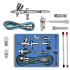 Double Action Airbrush Kit Air Brush Spray Gun with 03mm 02mm 05mm Needles