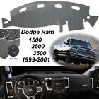 Fits 1998-2001 Dodge Ram 1500 2500 3500 Dash Cover Mat Dashboard Pad Blackgray