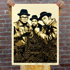 RUN DMC Raising Hell Gold Signed  Numbered Screen Print CONFIRMED