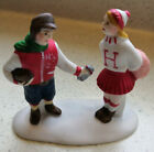 Lemax Ceramic 50's Football Player Giving Gift To Cheerleader Christmas Village