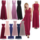 US Women Long Maxi Lace Evening Formal Party Cocktail Dress Bridesmaid Prom Gown