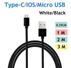 UGI Braided Fast Charging Charge USB Cable Mirco IOS Type C For Samsung Android