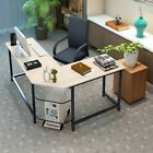 L-shaped Corner Computer Desk Table Home Office Study Workstation Cpu Stand Usa