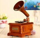 WOODEN PHONOGRAPH MUSIC BOX   Part of your World