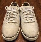 Womens UGG Australia Beige Cream Lace Up Casual Sneaker Shoes Size 55 US