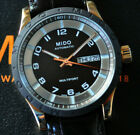 Mido Multifort Automatic Watch Stunning Black Dial Deployant Leather NEW in Box!