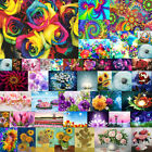 Full Drill Flower DIY 5D Diamond Painting Cross Stitch Embroidery Wall Gifts US