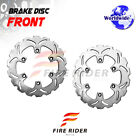 FRW 2x Front Brake Disc Rotor For KAWASAKI Z 750 TURBO 84-86 84 85 86