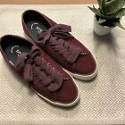 Sperry Wool Sneakers Maroon color
