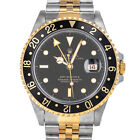 Rolex 16713  X GMT Master II 16713LN Black Dial Steel 18kt Yellow Gold Automatic