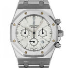 Audemars Piguet 25860 E Royal Oak Chronograph White AP ROC Stainless Steel Watch