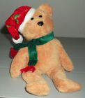 TY Beanie Baby 2003 Holiday Teddy Santa Hat Scarf No Hang Tag Retired