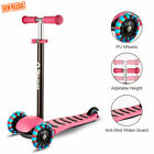 Kick Scooter 3 Wheels for Kids Toddlers PU LED Flashing Wheels Adjustable Height