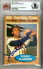 Hank Aaron Autographed Signed Auto 1962 Topps Card #394 Braves Beckett 9770991
