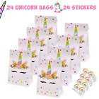 24 PCS Unicorn Candy Bags Goodie Gift Toy Treat Favor Bags Baby Shower Birthday