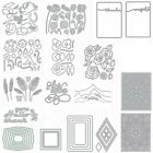 Nature leaves Frames Mountain Metal Cutting Dies Scrapbooking Stencil Embossing