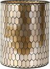 Bathroom Accessory Glass Mosaic Cleaning Decorative Wastebasket Trash Can Golden